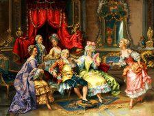 مصالح و نخ و نقشه آماده بافت تابلو فرش مهمانی اعیانی (دستبوسی) - کد 1711