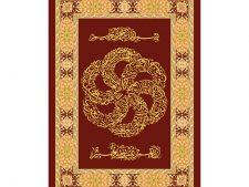 نخ و نقشه آماده بافت تابلو فرش طرح سوره قرآنی والعادیات - کد 213