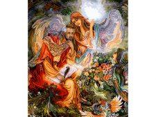 نخ و نقشه آماده بافت تابلو فرش طرح پری بهشتی (فرشته) - کد 3031