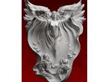 مصالح آماده بافت تابلو فرش طرح تندیس پرواز فرشته - کد 3435