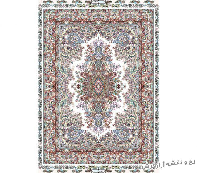 نخ و نقشه و مصالح آماده بافت تابلو فرش طرح قالیچه زیرپایی - کد 697