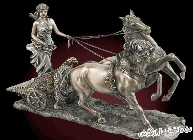 نخ و نقشه و لوازم آماده بافت تابلو فرش دستباف طرح تندیس لیدی اسب سوار کد 3441