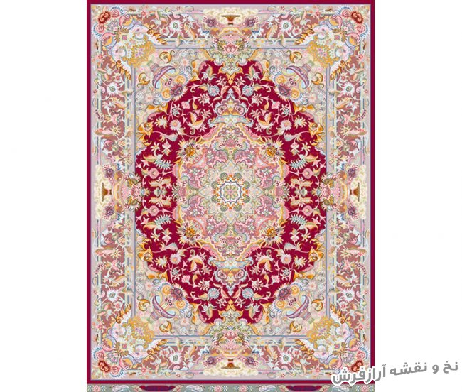 نخ و نقشه و مصالح بافت فرش دستباف قالیچه زیرپایی کد 719