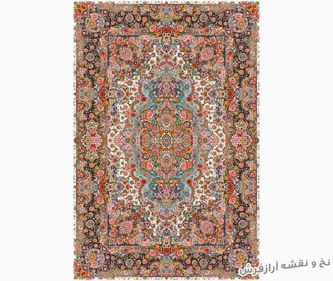 خرید اینترنتی نخ و نقشه آماده بافت فرش و قالیچه زیرپایی نفیس با طرحی زیبا کد 930